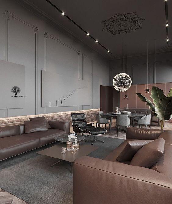 Velvet grey dining chairs