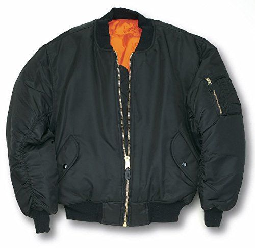 MA1 BOMBER JACKET WITH HEAVY BRASS ZIP (XXL, BLACK) Unknown http ...