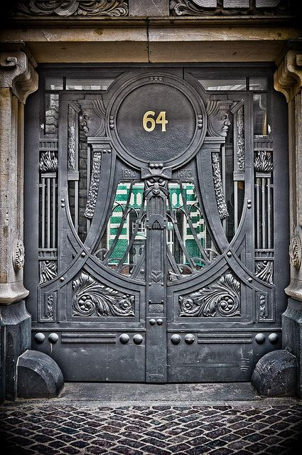 Gothic door in Berlin, Germany: