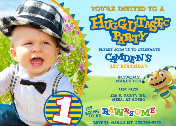 Henry HuggleMonster Invitation by 4EVRDesignsBYKristyn on Etsy, $12.00