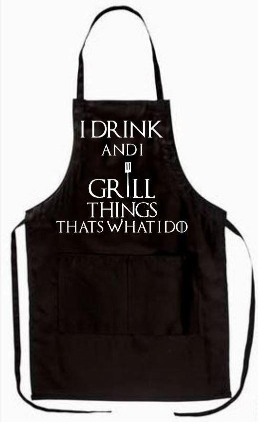 MENU CHOICES TAKE IT OR LEAVE IT BBQ MENS//WOMENS,BLACK NOVELTY APRON