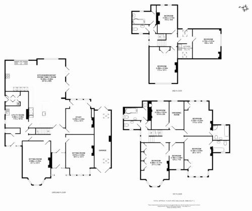 9 Bedroom Homes With 5 049 Square Feet The Two Story 9 Bedroom Residence Features A First Floor Master Su House Layout Plans Mansion Floor Plan House Layouts