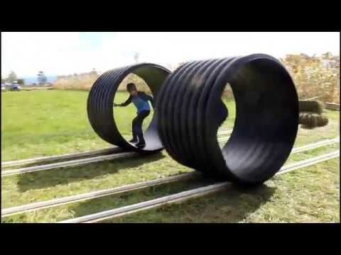 Human Hamster Wheels Youtube Our Local Pumpkin Patch Added These Human Hamster Wheels This Year And We Really L Farm Market Ideas Hamster Wheel Agritourism