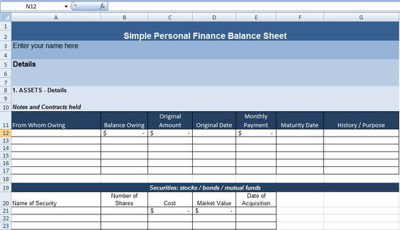 Get Professional Balance Sheet Template ExcelTemple Excel - project sheet template
