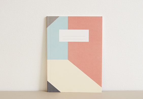 Colorblock Notebook Mint/Gray