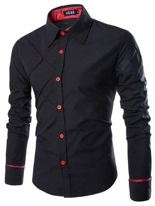 0855a73a40a55 Camisa Casual Fashion - Diseño Elegante y Moderno - Negra