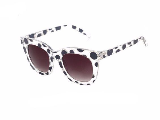 Womens Candy Color Polka Dot Sunglasses