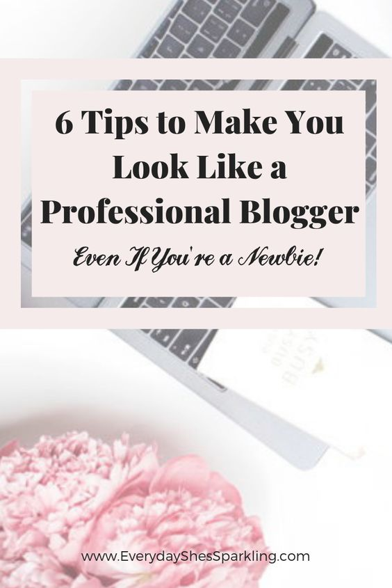 This article explains the importance to making your blog look great, especially if you are trying to make money. This lists 6 ways to look like a professional blogger, even if you're just new to blogging.