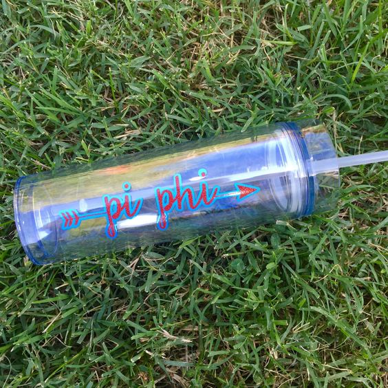 GREEK WATER BOTTLE - Customized with your sorority or fraternity name, symbol…