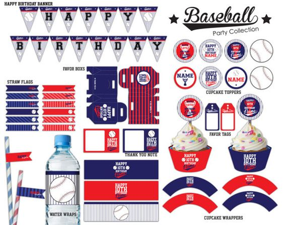 Baseball Party Printables Package  PFD File by SqweezDesign, $20.00