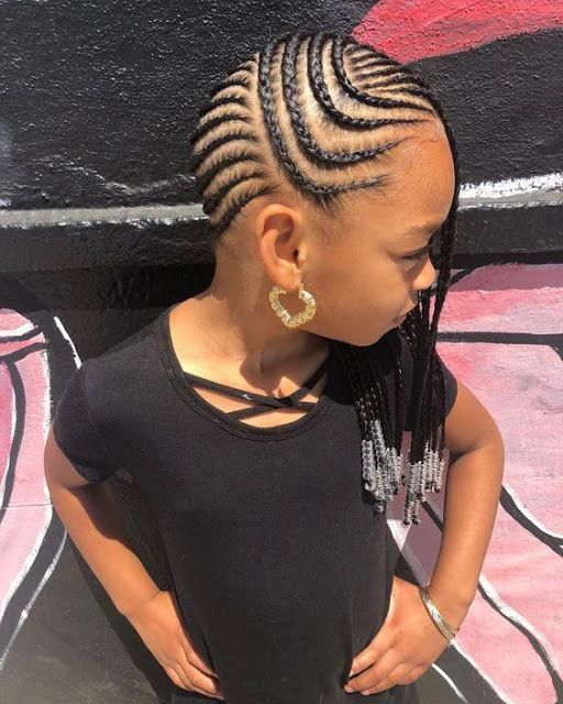 Braided New Hairstyles With Weaves For Little Girls 2019 Hair Styles Kids Hairstyles Girls Baby Girl Hairstyles