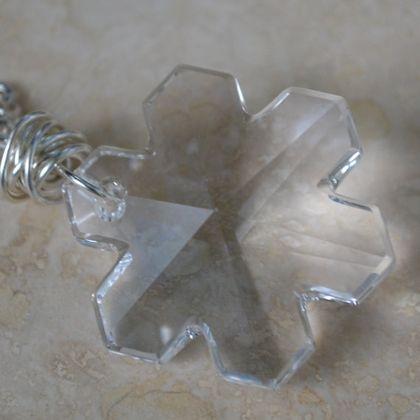 Snowflake Necklace 25mm Swarovski Crystal by SplendorVendor - StyleSays