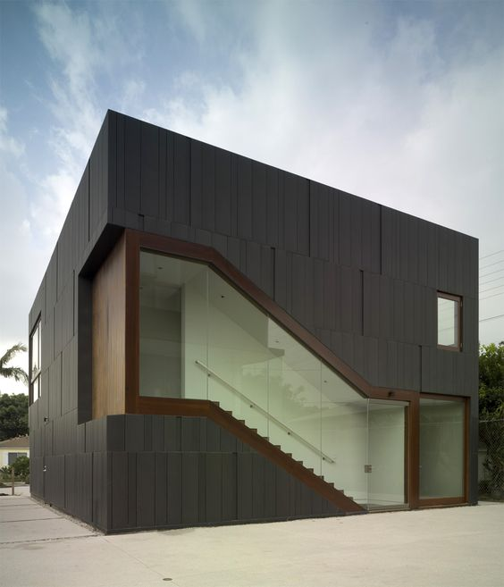 Private Residence in Los Angeles CA Studio 0.10 Architects Custom VMZ Interlocking panel using ANTHRA-ZINC