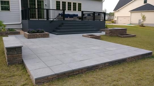 nantucket pavers patio on a pallet 18