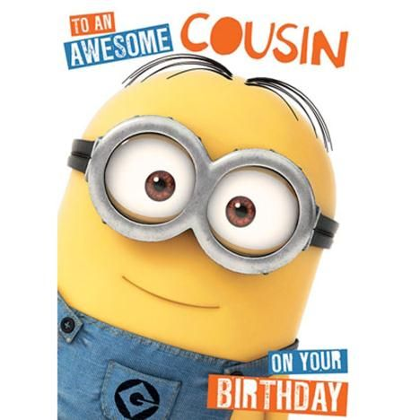 Awesome Cousin Minions Birthday Card Minions Cards Pinterest