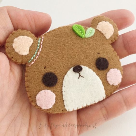 Planner Charm Dangle 3 X 2 Kawaii Felt Animal Etsy Kawaii Felt Handmade Felt Felt Animals