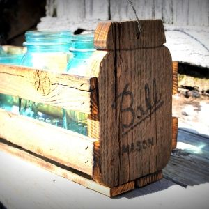 Ball shaped mason jar crate: