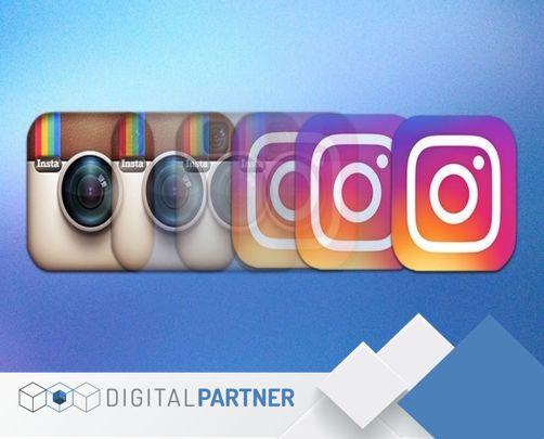 #Instagram cambia por primera vez estrenando logotipo e interfaz. icono más sencillo, en el que la cámara se convierte en un simple trazado en blanco sobre un fondo gradiente en colores cálidos. #DigitalPartner