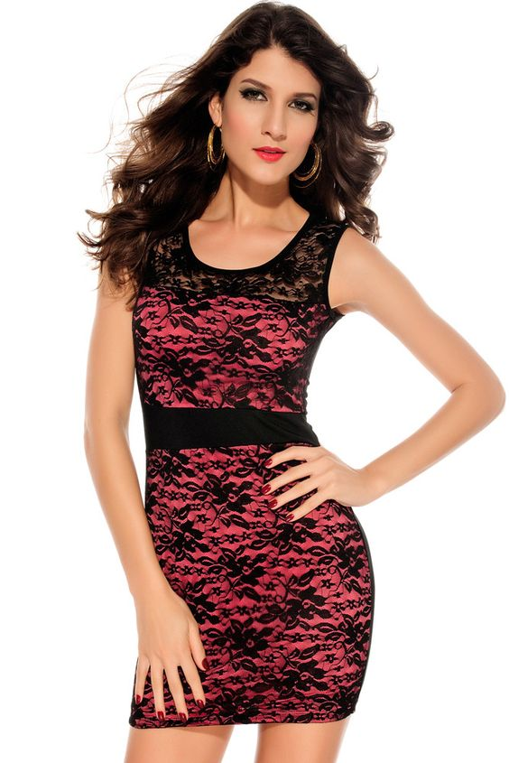 €10.66 @Modebuy #modebuy  Bodycon Robes Sensationelles Spitzen Minikleid Mit Tranparenter Ruckenansicht Rosy http://www.modebuy.com #me #TagsForLikesApp #commenter #photooftheday #liketeam #likes #eyes #soldes #likeback #sexy #followme #pretty #commentteam #f4f