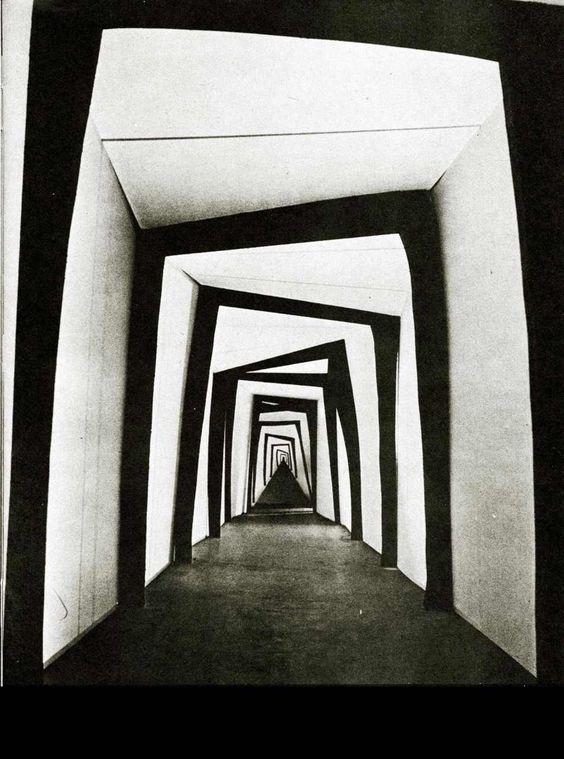 "Set design for the 1920 film ""Das Cabinet des Dr. Caligari"" (The Cabinet of Dr. Caligari)"