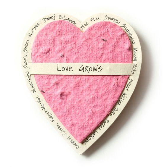 Seed Paper Gift Enclosure Card - Pink Heart - only $2.79 | Unique Gifts & Home Decor | Karma Kiss