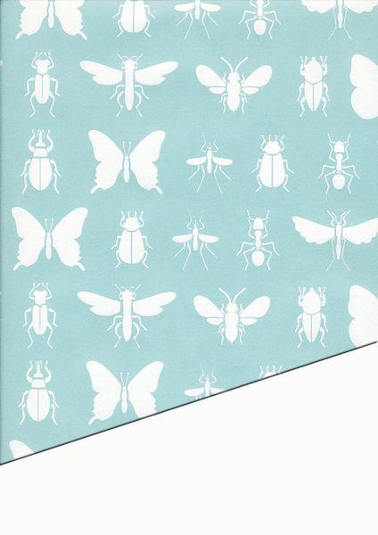 Geschenkpapier Insekten 50x70cm von Stempel Rina auf DaWanda.com