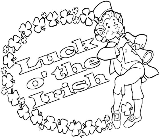 o byrnes st patricks day coloring pages - photo #27