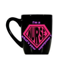 I'm a Nurse What's Your Superpower Coffee Cup, Nurse Coffee Cup, Nurse Gift, Nurse Gift Coffee Cup, Superpower Nurse Cup, Nurse Superpower by KissMyMonograms on Etsy