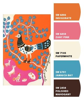 Folk Art in the hottest shades! Paint colors from Chip It! by Sherwin-Williams