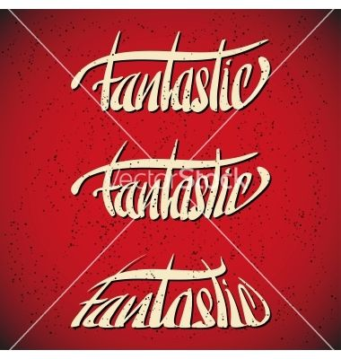 Fantastic greetings hand lettering set vector by Slashman on VectorStock®
