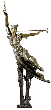 """""""The Spirit Triumphant"""" by Donald DeLue. 1971 bronze. In the collection of The Mennello Museum of American Art, Orlando, FL."""