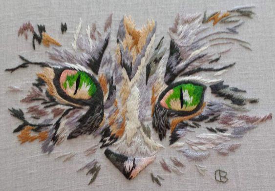 Peinture à l'aiguille réalisée Brigitte