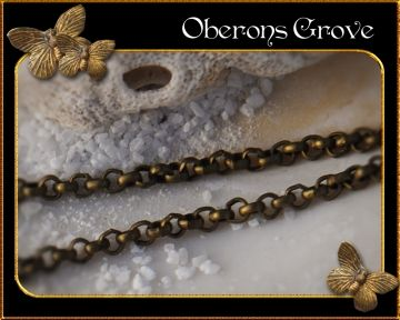 2mm rolo very thin link chain, fine for earring making 2mm dünne Rolo Gliederkette, prima auch für Ohrringe