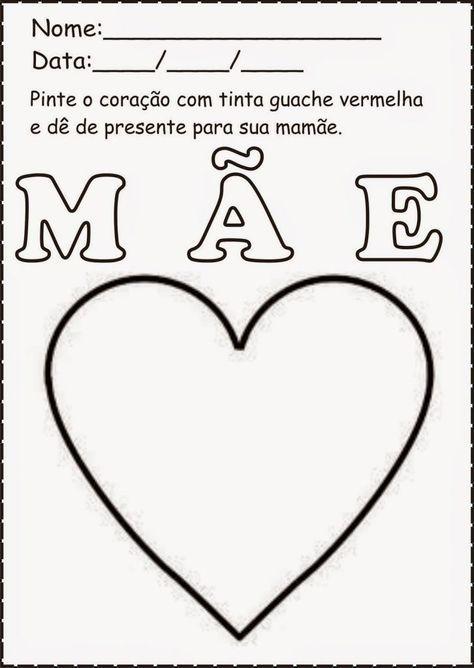 Atividades Para Dia Das Maes Educacao Infantil Coisas Da Escols