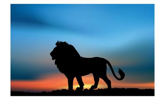 ما معنى رؤية الأسد في الحلم حسب علم النفس Silhouette Painting Lion Painting Lion Silhouette