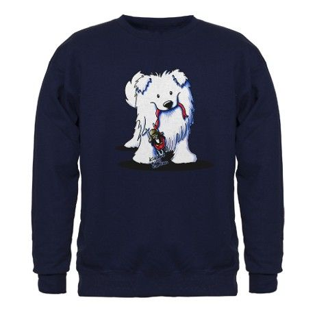 Penguin Sled Samoyed Sweatshirt (dark)
