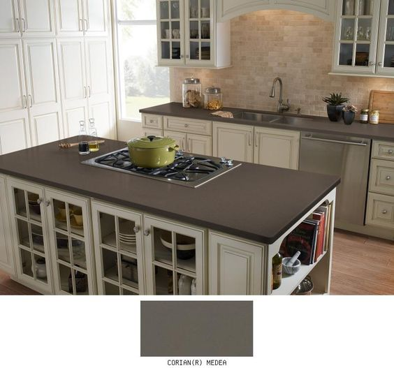 Kitchen Countertop And Backsplash Combinations: Corian Countertops, Countertops And Colour On Pinterest