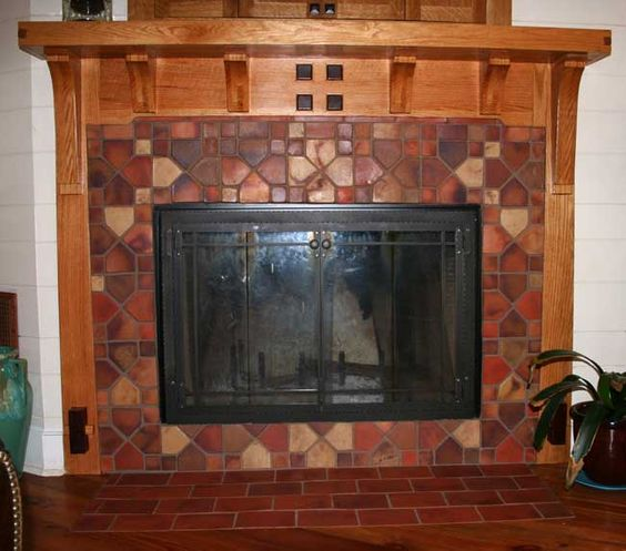 78 Images About Craftsman Style Fireplaces On Pinterest: Craftsman Fireplace Tile Surround 1890-1930 Reproduction