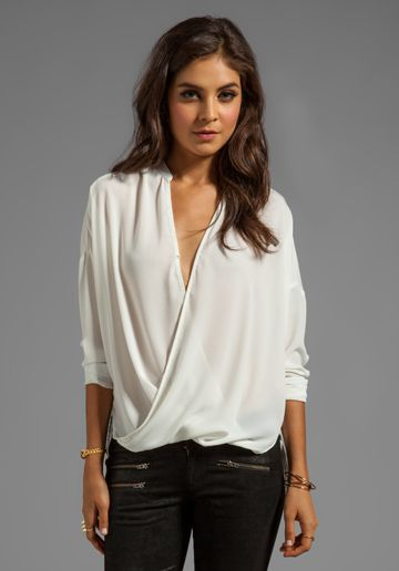 Womens Wrap Tops Blouses | Fashion Ql