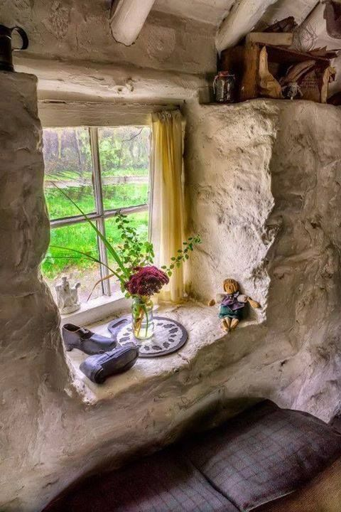 I Would Love A Concrete Cottage With This Look Inside Plaster Cottage Garden Beautiful Ideas Farm Ga In 2020 Old Stone Houses Stone Cottages Victorian Windows