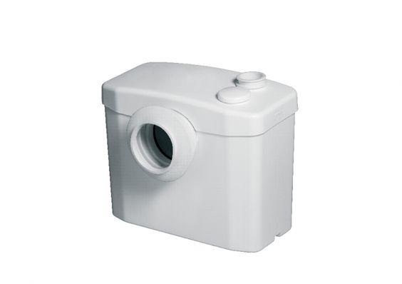 El aparato SANITOP es un triturador - bombeador para uso doméstico especialmente diseñado para evacuar las aguas usadas procedentes de un inodoro de salida horizontal.    Permite instalarun segundo aseo debajo del nivel del desagüe general o lejos de la canalización central.    Silencioso    Evacúa inodoro más lavamanos.