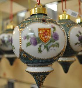 thistle ornaments | lion and thistle christmas ball previous in irish christmas ornaments ...