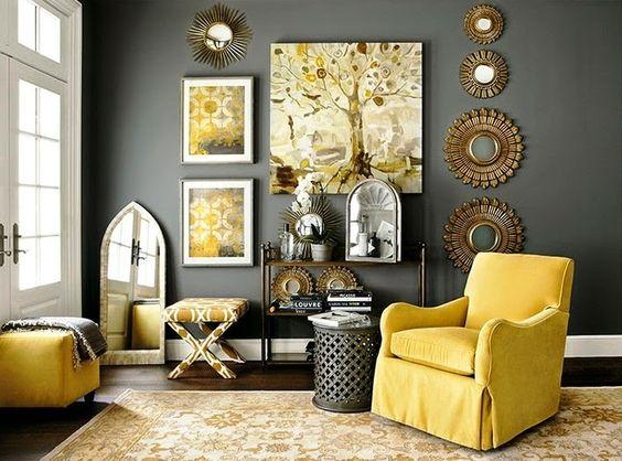 Sala com detalhes em espelho. (Foto: BlogHome)