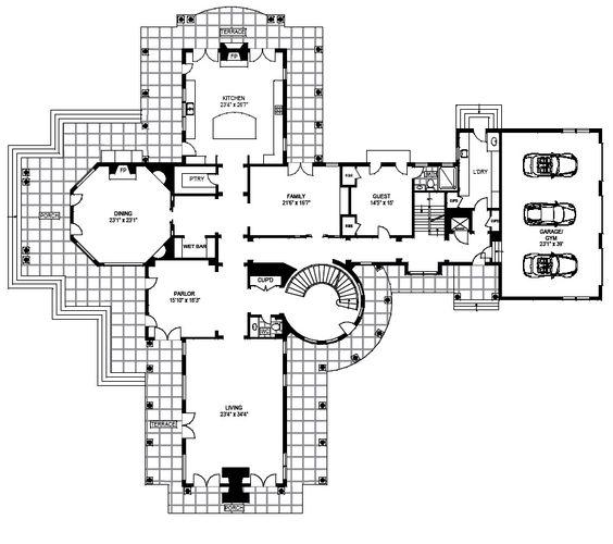 Hamptons beach house floor plans
