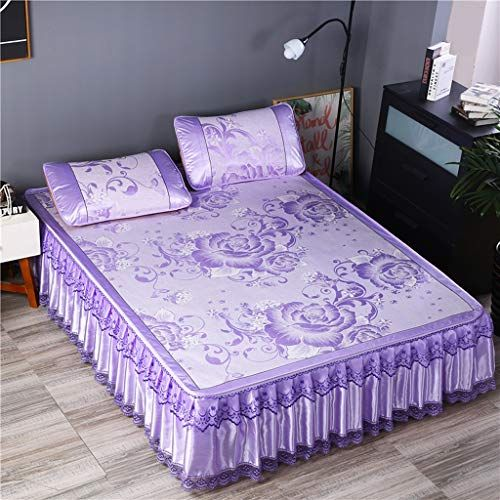 Liangliang Summer Ice Silk Seats Ice Silk Moisture Wicking Bedding Purple Various Sizes Color 180cm Purple Bedding Thick Mattress Topper Best Mattress