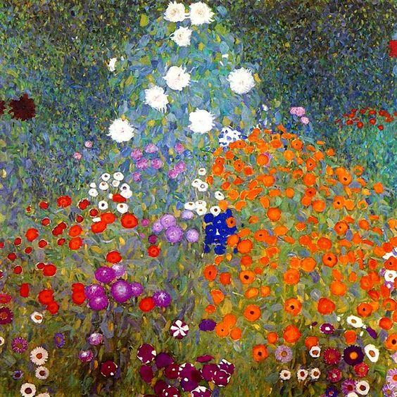 Musée D ' Orsay/ Gustav Klimt /Bauerngarten /Rosebushes under the trees via Paintings Lovers FB: