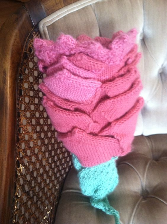 Rose shape baby cocoon handmade by Me