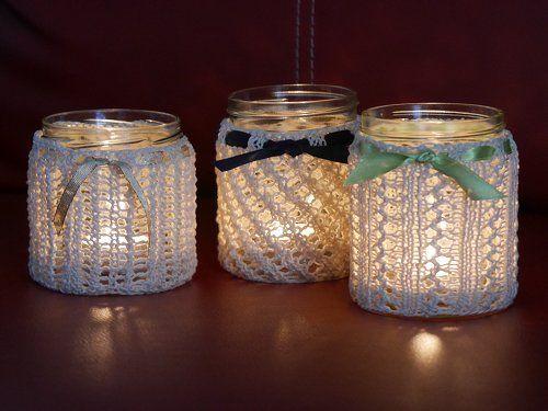 Windlichter aus Honiggläsern / Hand lanterns made of honey jars / Upcycling