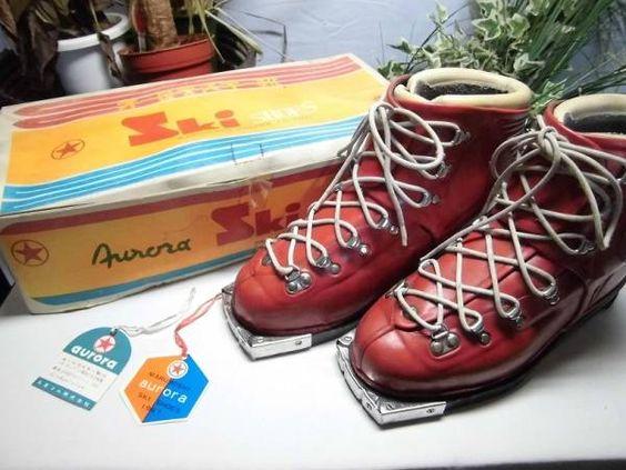 レトロ ビンテージ 昔の編み上げスキー靴 ♪zk329♪ - ヤフオク!
