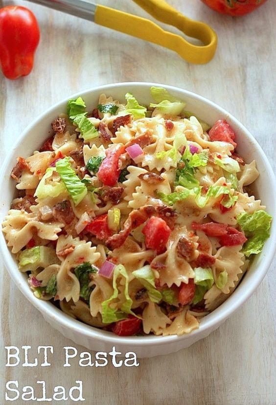20-Minute BLT Pasta Salad | Recipe | Bacon, Sunflower ...